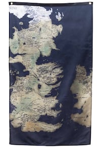 """UNOPENED Game of Thrones Map! (30"""" by 50"""" Westeros Map)"""