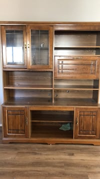 Brown wooden cabinet with shelf Mississauga, L5N 1N2