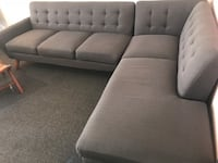 Grey mid century sectional 2292 mi