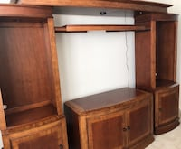 Beautiful wood entertainment center with adjustable center for any size tv. Well taken care of. Woodbridge, 22191