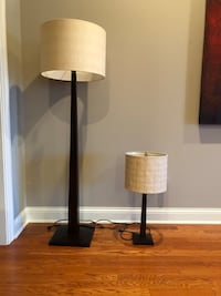 CB2 lamps:  Tall (60 tall);  table lamp (26.5 tall)  Chicago, 60606