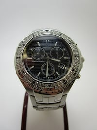 BULOVA ACCUTRON VAL D'ISERE STUNNING DIAMONDS CHRONOGRAPH WATCH 26E02 Royal Palm Beach