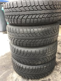 set of 4 tires and rims winter for MAZDA 3 good condition   558 km