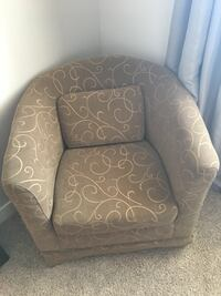 gray and white floral sofa chair Fort Saskatchewan, T8L 0H4
