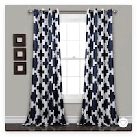 Navy/white room darkening curtains  Frederick, 21703