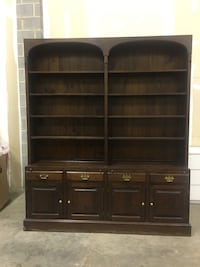 Brown wooden cabinet with hutch 16 km