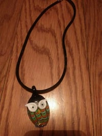Glass owl necklace Ringgold, 30736