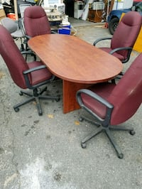 Office table and 4 chairs Seabrook, 03874