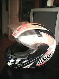 AGV casco de moto decorado