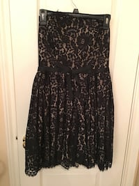 black and gray floral sleeveless dress Pflugerville, 78660