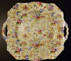 Royal Winton - Floral Feast - Square Cake Plate