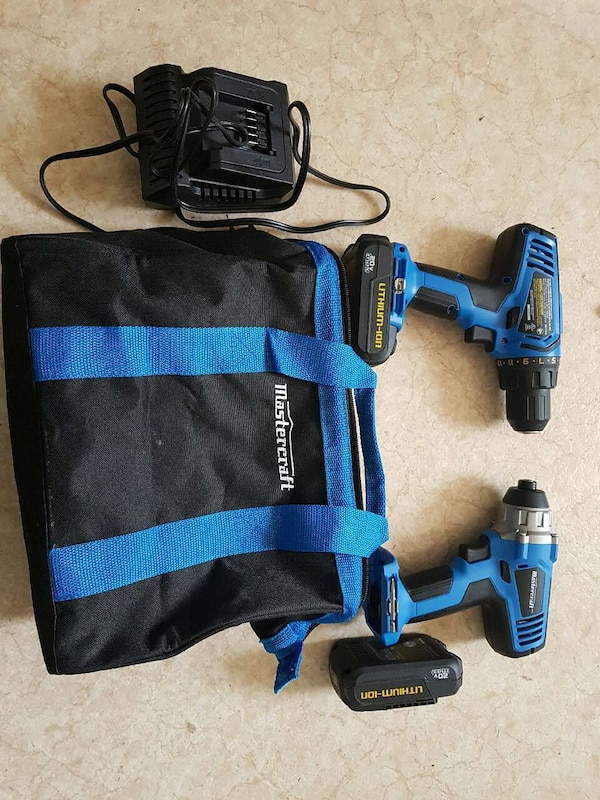 2 MasterCraft drills brand new with charger andbag