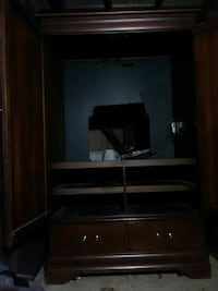 brown wooden TV hutch Utica, 42376