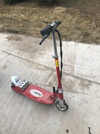 Red and black scooter missing charger as is Toronto, M5M 2V8