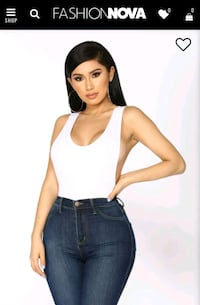 Fashion Nova White Bodysuit - Medium Calgary, T2Y 2X2