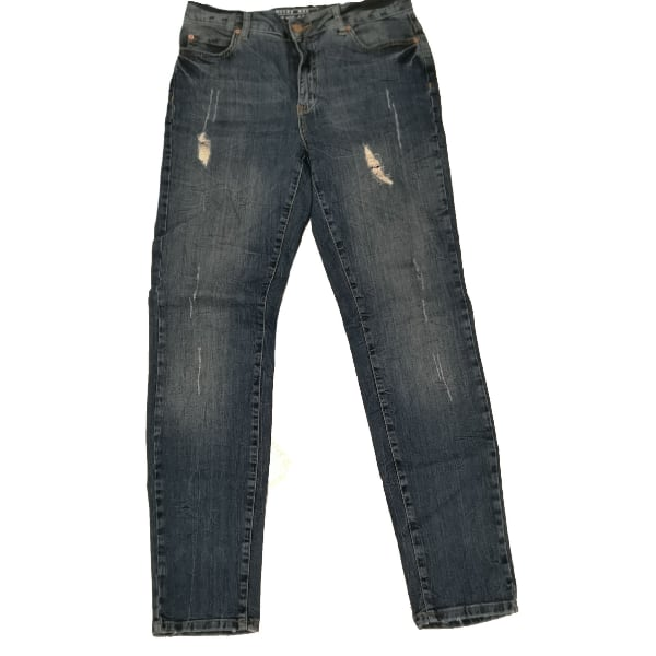 """Noisy May Skinny Distressed Blue Jeans 28"""""""