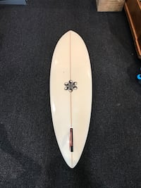 white and black surf board Encinitas, 92024