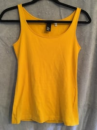 H&M tank cotton stretch, mustard colour,  XS - $5 Mississauga, L5L 5P5