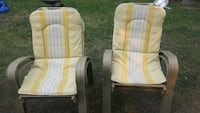 Set of 4 Stackable Lawn Chairs with Cushions.   Edmonton, T5L 4B1