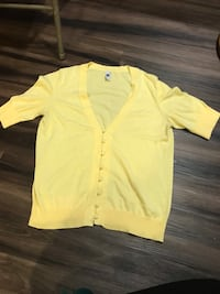 Yellow button cardigan size xl like new.