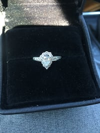 Engagement ring. Pear
