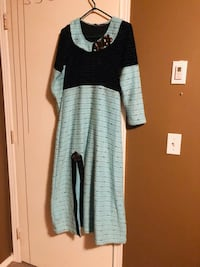 long one piece winter soft fabric dress with cut underneath  Maple Ridge, V2X