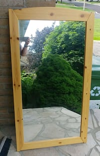 ** Reserved ** Wood Framed Mirror