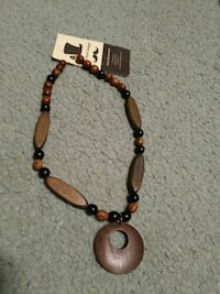 brown and black beaded necklace Sherwood Park