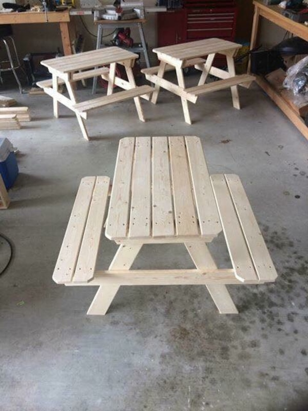 Used Childrens Picnic Table For Sale In Garland Letgo