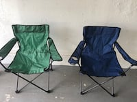 two green and blue camping chairs North Lauderdale, 33068