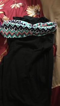 black and green scoop-neck sleeveless dress Coos Bay, 97420
