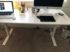 Ikea office table with shelf