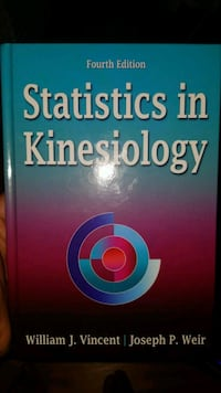 Statistics in Kinesiology 4th edition textbook Toronto, M6E 4G3