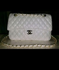Chanel Bag White Caviar Leather Double Flap Purse  Vaughan, L4K