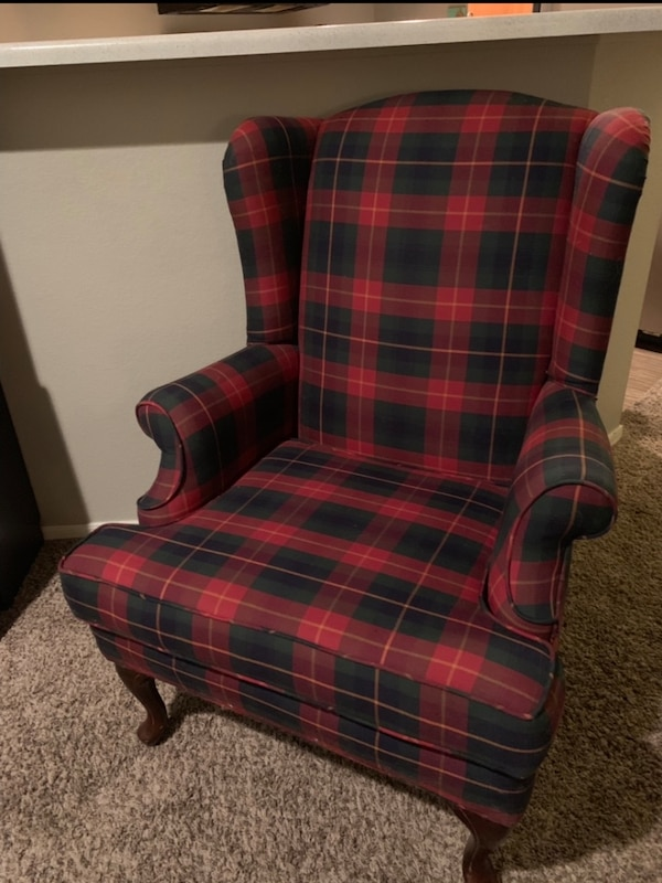 Terrific Traditional Plaid Accent Chair Gmtry Best Dining Table And Chair Ideas Images Gmtryco