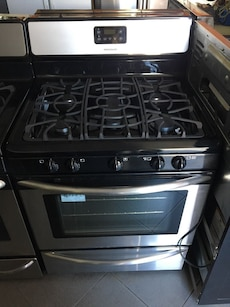 silver and black Frigidaire stove oven