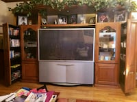 Oak Entertainment Center & TV