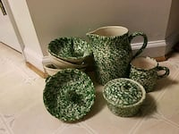 Green Sponged Henn Pottery Woodbridge, 22192