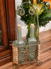Vintage stand with bottle's