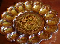 carnival glass egg platter 11 1/4 inches diameter South Amboy, 08879