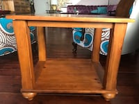 2 End Tables: solid wood 24 mi