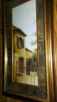 brown wooden framed painting of house Pell City, 35125