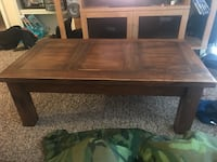 rectangular brown wooden coffee table Midwest City, 73110