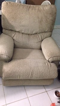 Brown fabric recliner sofa chair Falls Church, 22041