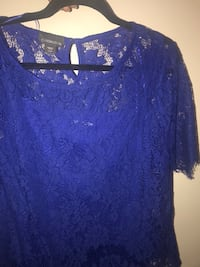 Beautiful Royal Blue lace top - size XL  Moon, 15108