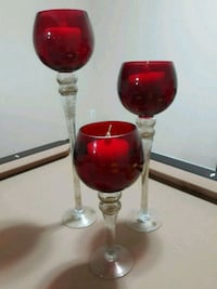 Set of 3 red goblet candle holders Lorton, 22079