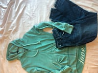Old navy mid rise jeans & love jacket Boston, 02125