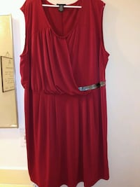 Lys Red/Maroon Drape Dress size 3X Concord, 94518