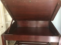 Mahogany drafting table with chair
