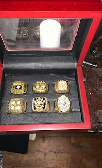 Steelers 6 ring set